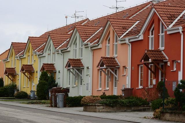vilová čtvrť rodinné domy