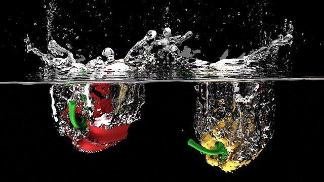 papriky ve vodě